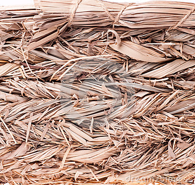 Texture of a straw basket closeup