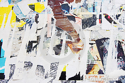 Texture of torn posters