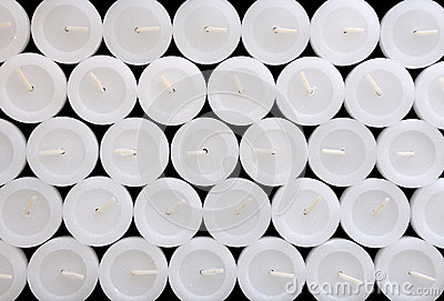 The texture of white candles.