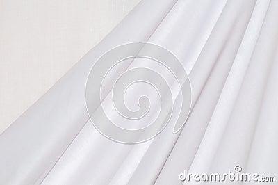 Texture white cotton drapery