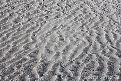 Texture of white sand dunes
