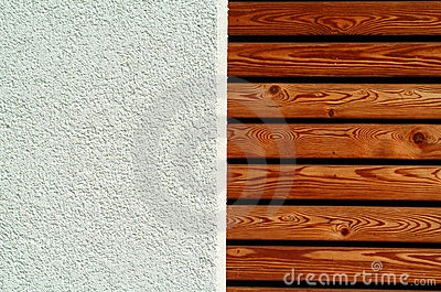 Texture wood and concrete