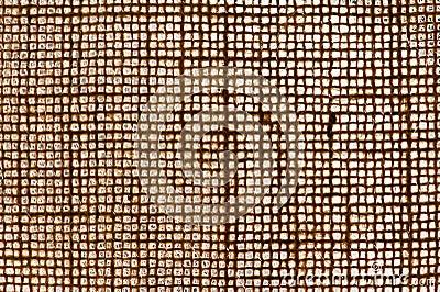 Texture of woven jute