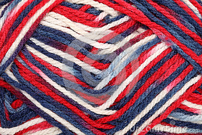 Texture of yarn ball