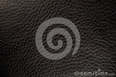 Textured black leather