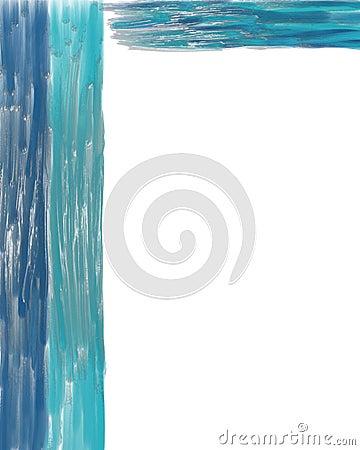 Textured blue streak frame