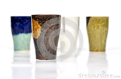 Textured coffee mugs