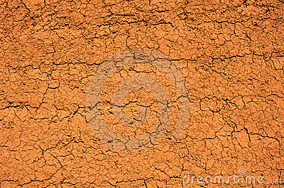 Textured dry mud wall