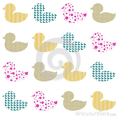 Textured ducks background