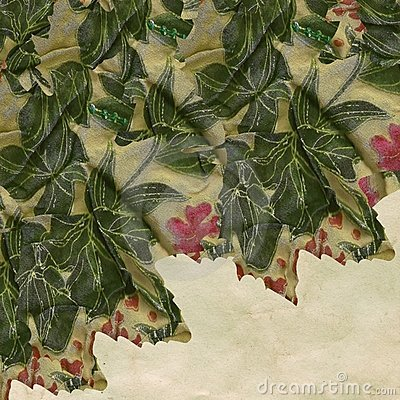 Textured floral fabric