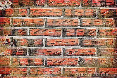 Textured grunge abstract brick wall background