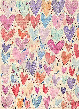 Textured Hearts Background