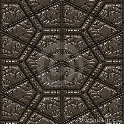 Textured leather tile