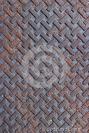 Textured Metal Grate Background in Weave Pattern