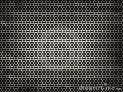 Textured metal grid
