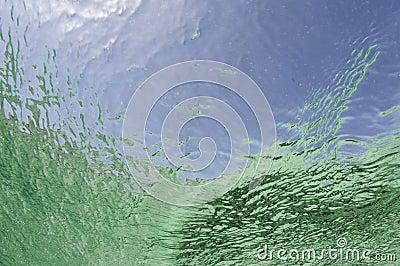 Textured ocean surface