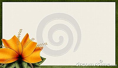 Textured Orange Flower Background 2