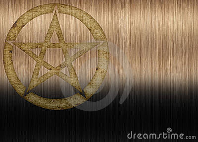 Textured Pentagram Background
