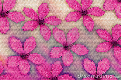 Textured pink flowers