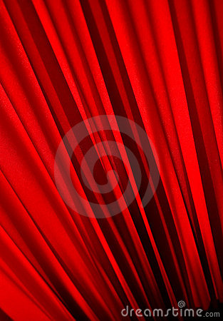 Textured red curtain