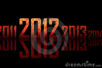 Textured row of years (theme of 2012 year)