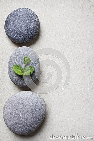 Textured spa stone