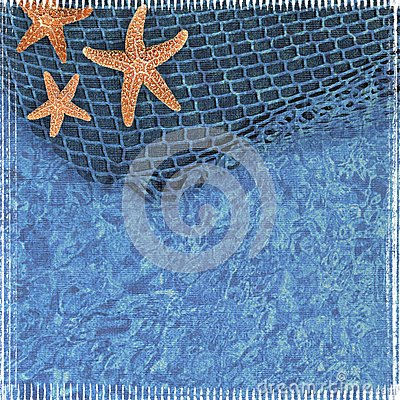 Textured Starfish Scrapbook Background