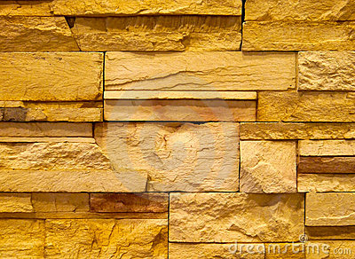 Textured stone block wall