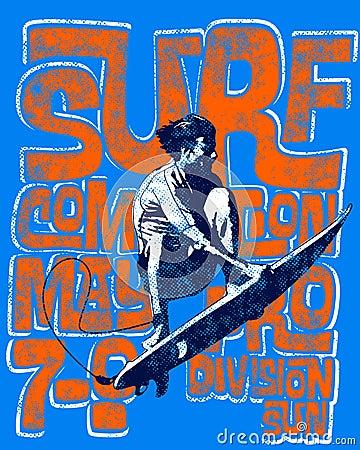 Textured surfing background