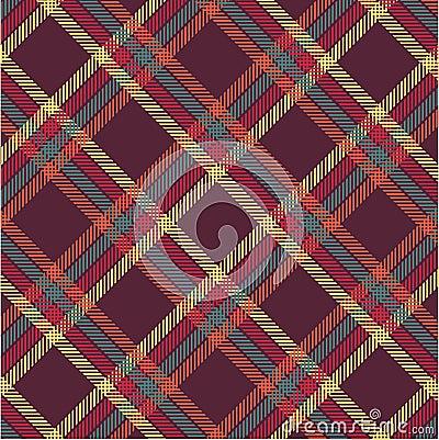 Textured tartan plaid