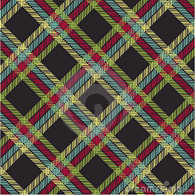Textured tartan plaid, vector pattern