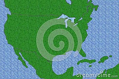 Textured USA Map