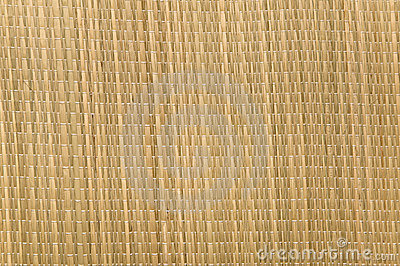 Textured weave of a grass mat