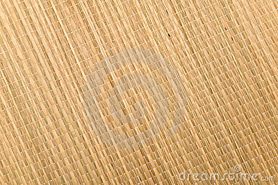 Textured weave of a grass mat