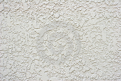 Textured White or Grey Stucco Wall With Small Crac