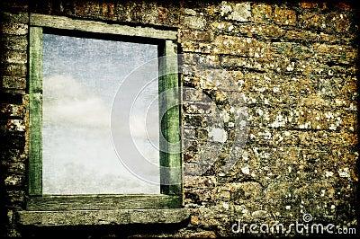 Texturerat fönster