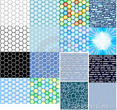 Textures hi-tech honeycombs