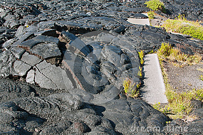 Textures of lava in Hawaii