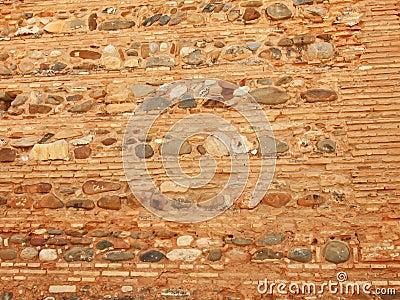 Textures masonry of Alcazaba Military Alhambra