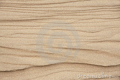 Textures and Pattern on Beach Sand