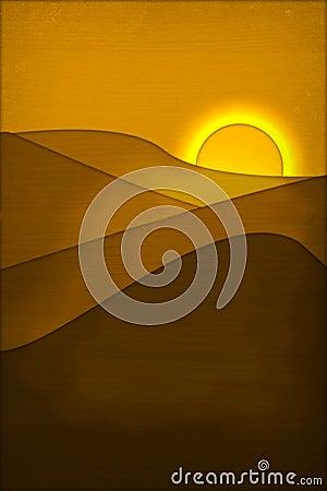 Texturized sunset