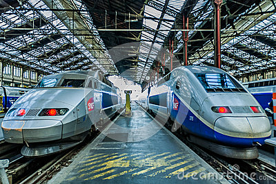 TGV high speed french train Editorial Stock Image