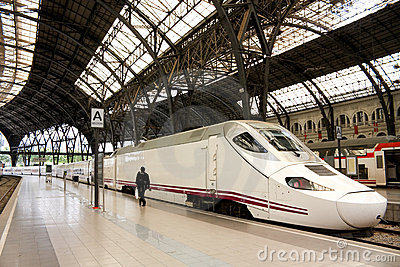 TGV. high speed train, Spain