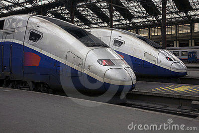 TGV Trains at Paris Gare de Lyon
