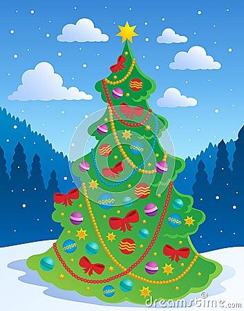 Thème 3 d arbre de Noël