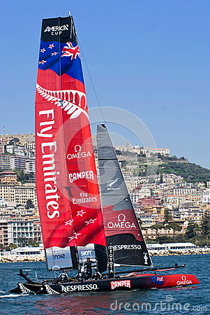 34th America s Cup World Series 2013 in Naples Editorial Photo