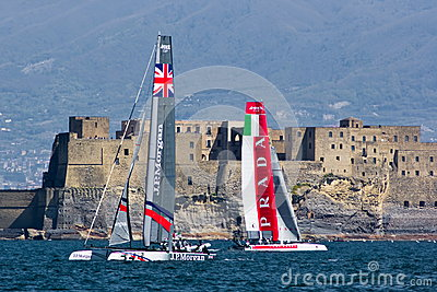 34th America s Cup World Series 2012 in Naples Editorial Stock Image