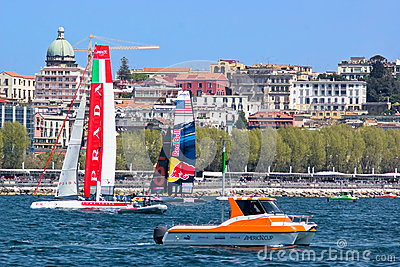 34th America s Cup World Series 2013 in Naples Editorial Stock Photo