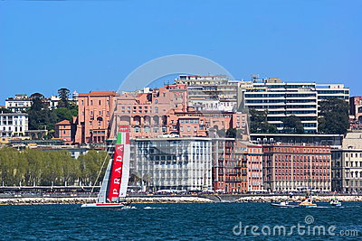 34th America s Cup World Series 2013 in Naples Editorial Photography