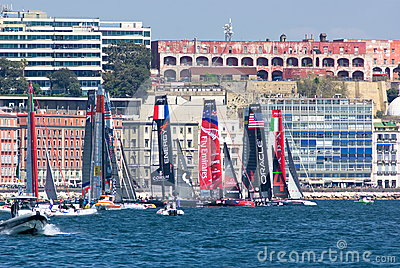 34th Americas Cup World Series 2013 in Naples Editorial Stock Photo